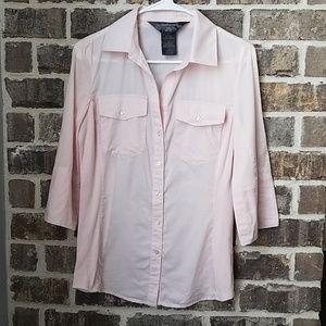 Norma Kamali Light Pink Button Down Top